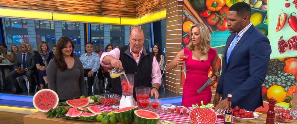 "PHOTO: ""The Chew"" co-host Mario Batali shared recipes for quick summer snacks on ""Good Morning America."""