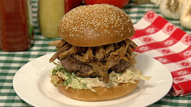 PHOTO: Michael Symon's pork burger is shown here.