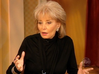 Picture of Barbara Walters on The View.