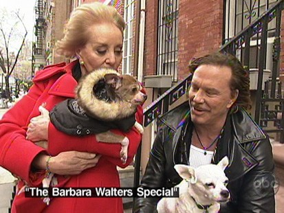 VIDEO: Barbara Walters discusses Mickey Rourkes dogs.