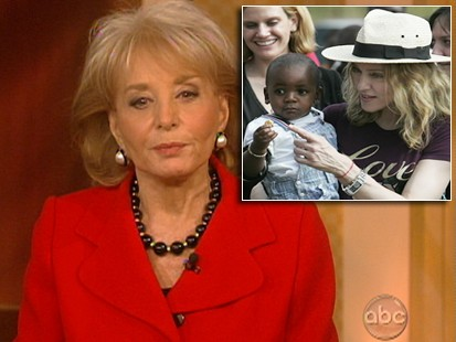 VIDEO: Barbara Walters defends Madonna on adoption issue.