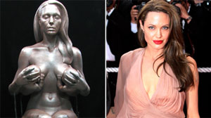 Nude life-size statue of Angelina Jolie set to go on display
