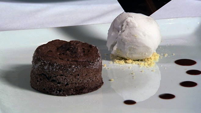 PHOTO: Chocolate almond cake.