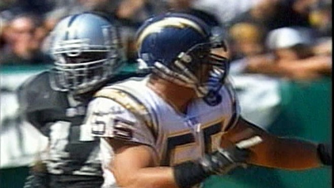 VIDEO: Junior Seau survives plunge from 30-foot cliff after arrest for domestic violence.