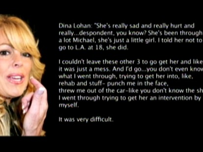 Video: Lohans father releases recorded call with his ex-wife Dina.