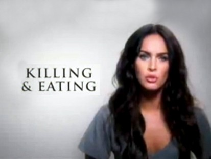 VIDEO: Megan Fox appears in bogus PSA talking about killing and eating boys.
