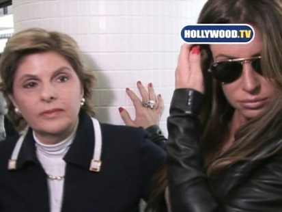 Video: Rachel Uchitel meet Gloria Allred at LAX.