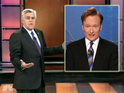 VIDEO: Jay Leno and Conan OBrien make light of their scheduling situation at NBC.