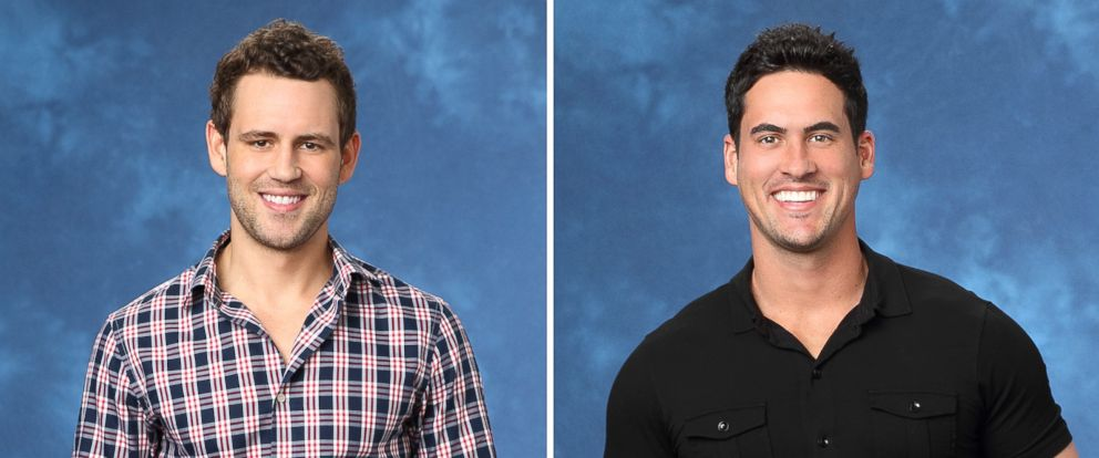 """PHOTO: Nick Viall and Josh Murray were the final two bachelors competing for Andi Dorfmans hand on ABCs """"The Bachelorette."""""""