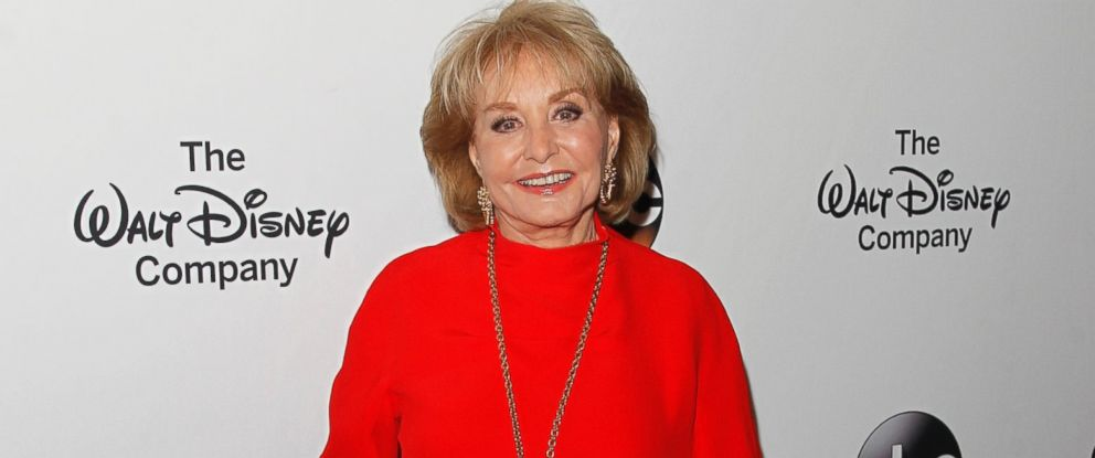Barbara Walters arrives at the Barbara Walters Celebration, honoring the broadcasting legend as she says goodbye to daily television, May 14, 2014, at the Four Seasons in New York City.