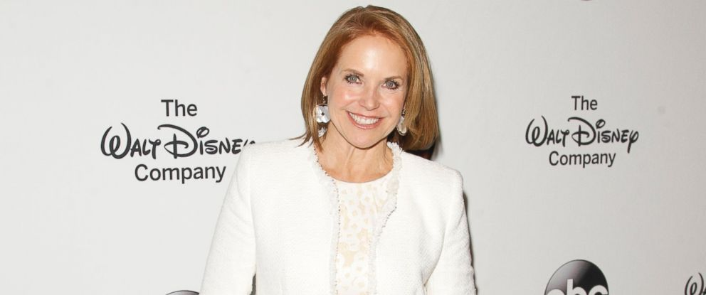 Katie Couric arrives at the Barbara Walters Celebration honoring the broadcasting legend as she says goodbye to daily television, May 14, 2014, at the Four Seasons in New York.