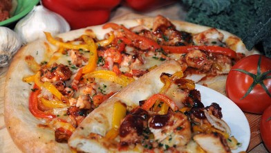 PHOTO: Wolfgang Puck's barbecue pizza is shown here.