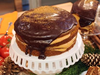 Carla Hall S Pumpkin Chocolate Cake Recipe Abc News