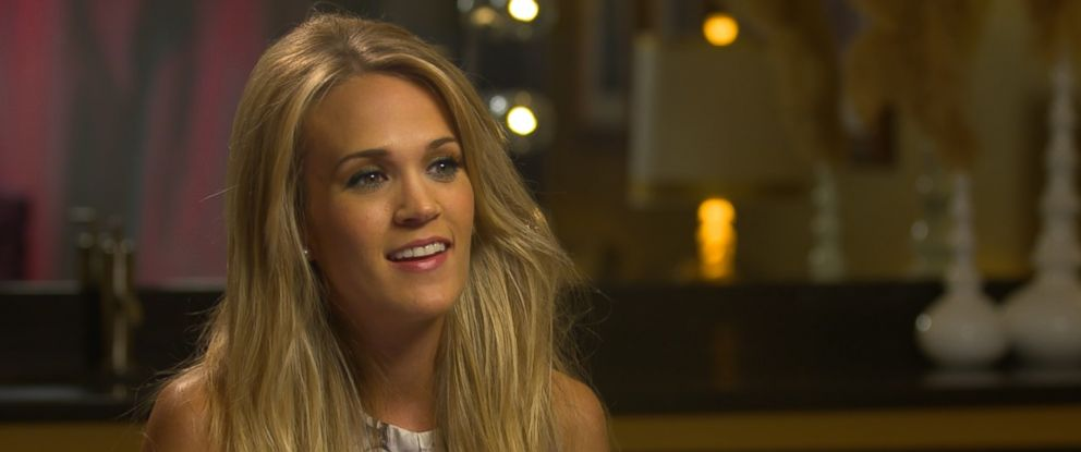"""Carrie Underwood is seen here during an interview for the ABC News special, """"Countdown to the CMA Awards: Countrys Greatest Crossover Hits with Robin Roberts."""""""