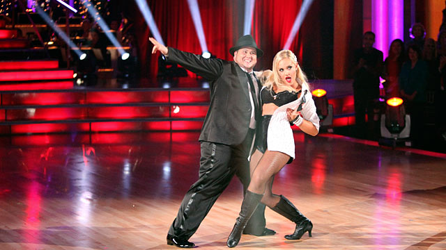 """PHOTO: Chaz Bono, one of the seven couples performing their second dance of the night on """"Dancing with the Stars,"""" Oct. 24, 2011."""