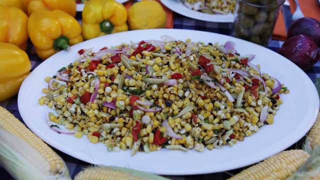 PHOTO: Marcus Samuelsson's charred corn salad is shown here in this undated photo.