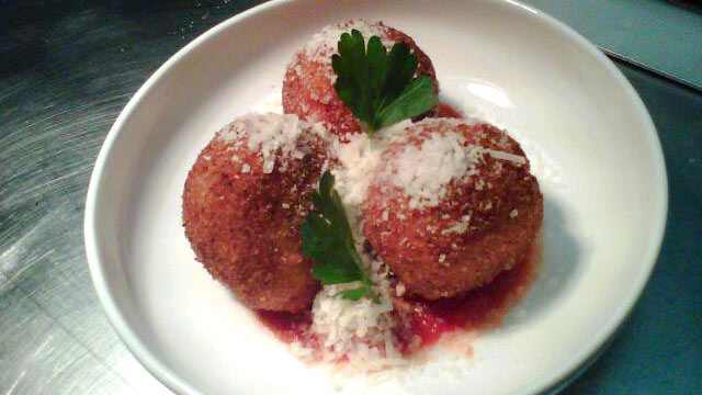 PHOTO: Chef Lauren Hirschberg's pecorino risotto balls are shown here.