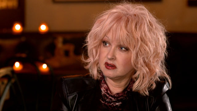 "PHOTO: 80s pop icon Cyndi Lauper talks with ""Nightline"" about her new musical, her marriage to actor David Thornton and raising their teenage son."