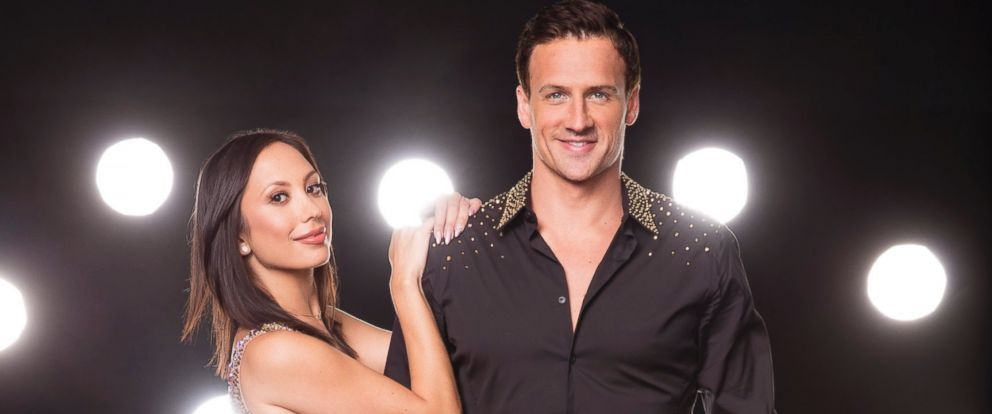 """PHOTO: Olympic gold medalist Ryan Lochte with his """"Dancing With The Stars"""" professional dance partner Cheryl Burke."""