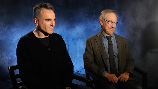 """PHOTO: Diane Sawyer speaks to legendary director Steven Spielberg and two-time Academy Award-winning actor Daniel Day Lewis about the highly anticipated movie """"Lincoln."""""""