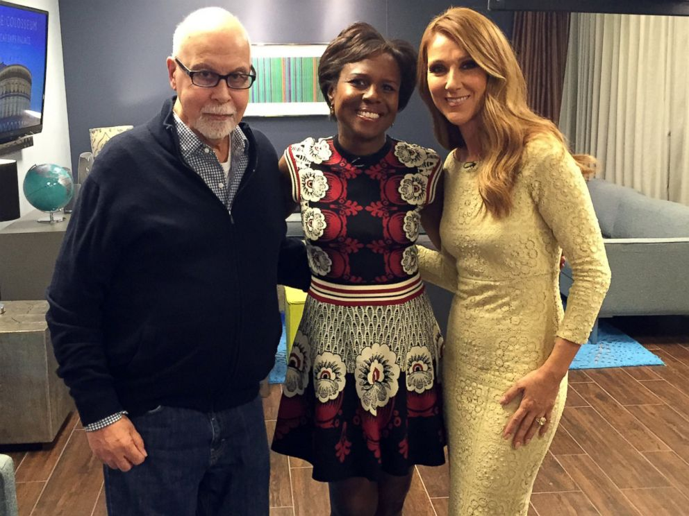 PHOTO: Deborah Roberts sits down with Celine Dion and Rene Angelil.