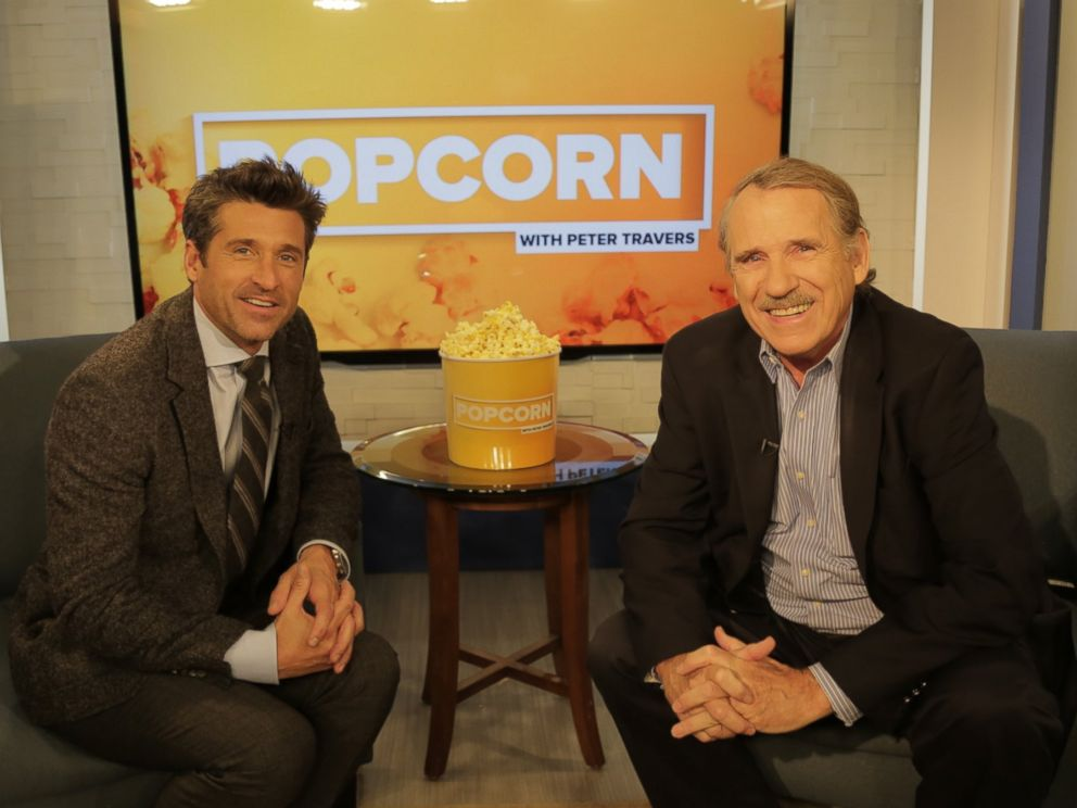 PHOTO: Patrick Dempsey and Peter Travers at the ABC News Headquarters, Sept. 12, 2016.
