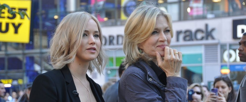 Jennifer Lawrence spent the day with ABCs Diane Sawyer in New York City.