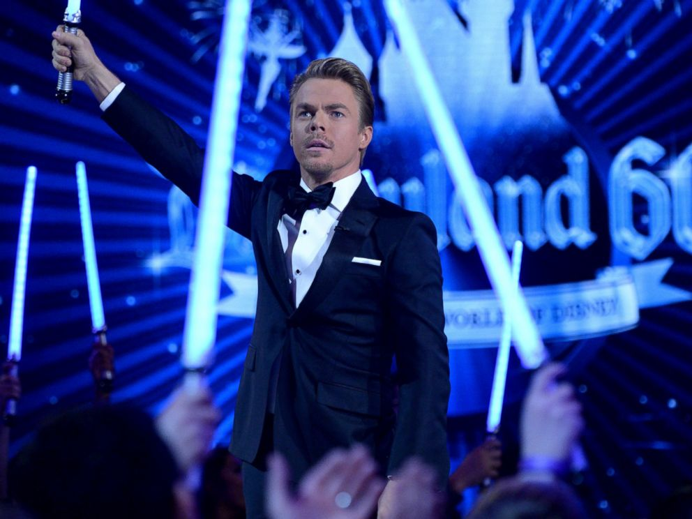 PHOTO: Derek Hough is seen during filming for The Wonderful World of Disney: Disneyland 60, airing Feb. 21, 2016 at 8:00 p.m. on the ABC Television Network.