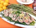 PHOTO: Emerils asparagus with poached shrimp salad