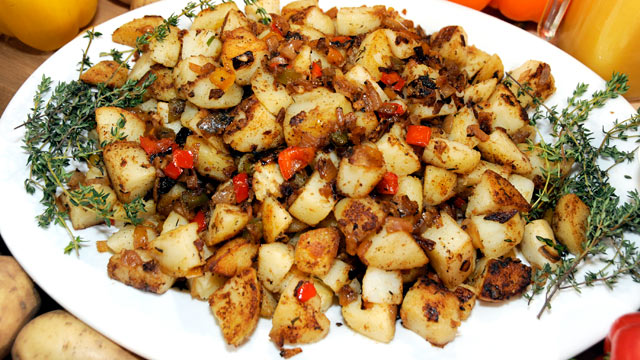 PHOTO: Emeril Lagasse's hash brown potatoes are shown here.