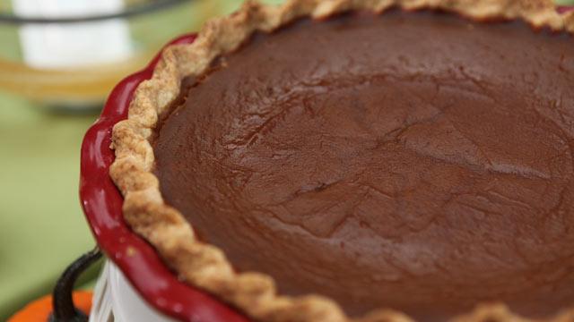 PHOTO: Emeril's pumpkin custard pie is shown here.