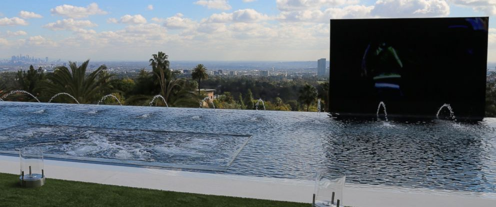 A view from the Los Angeles home listed for $250 million.