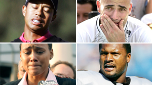 PHOTO Tiger WOods, Andre Agassi, Steve McNair, and Marion Jones are shown in these file photos.