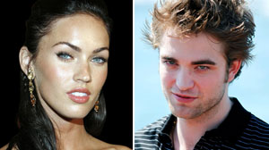 Megan Fox and Robert Pattinson