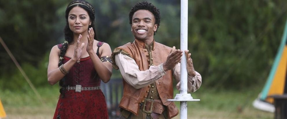 """PHOTO: Karen David and Luke Youngblood in the new ABC show """"Galavant."""""""