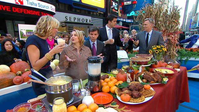 PHOTO:Elizabeth Karmel's recipes featured on GMA, Nov. 9, 2011