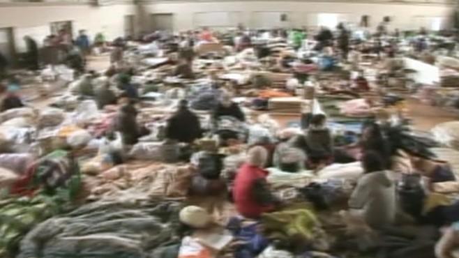 VIDEO: Half a million survivors still homeless after earthquake and tsunami.