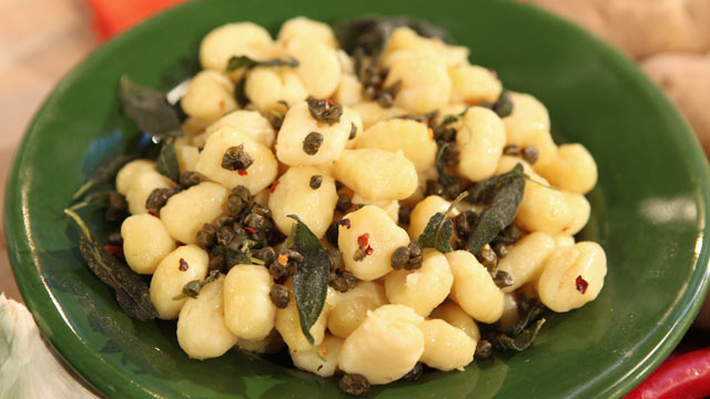 PHOTO: Gail Simmons' potato gnocchi with butter and cheese recipe.
