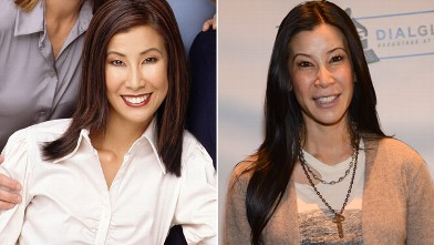 PHOTO: Lisa Ling is seen in this undated cast shot from The View, and again at the Grammy's Dial Global Radio Remotes in Los Angeles on Feb. 8, 2013.