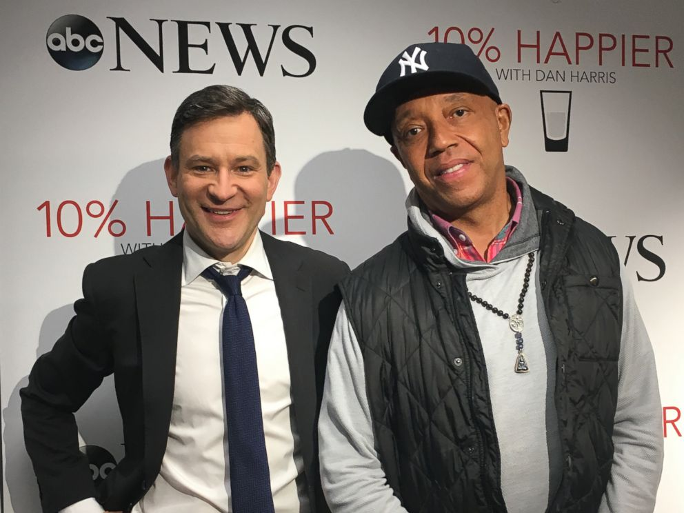 Russell Simmons is seen here with ABCs Dan Harris during an interview for his 10% Happier podcast.