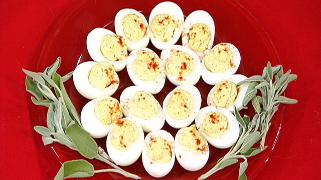 PHOTO: Diane Henderiks' Deviled Eggs with Goat Cheese and Dill are shown.