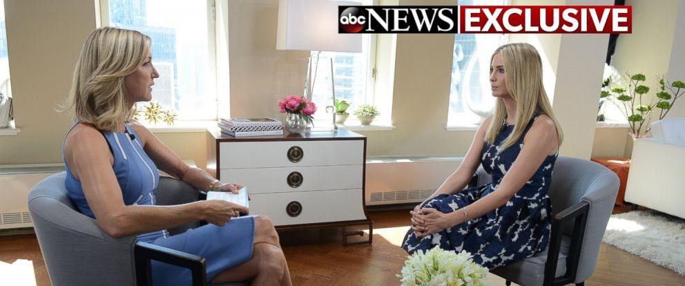 PHOTO: Lara Spencer interviews Ivanka Trump on Monday, July 18, 2016 in New York.