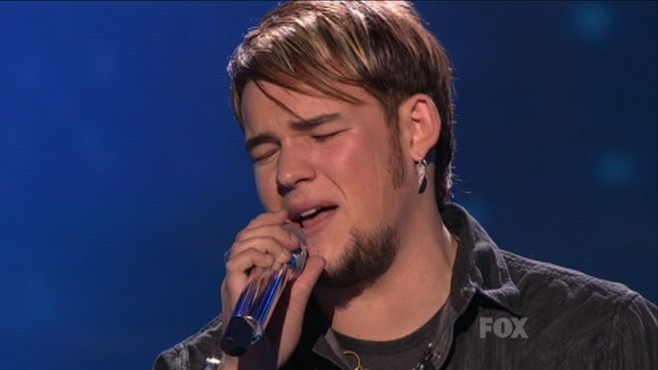 VIDEO: James Durbin wiped away tears after being eliminated from American Idol.