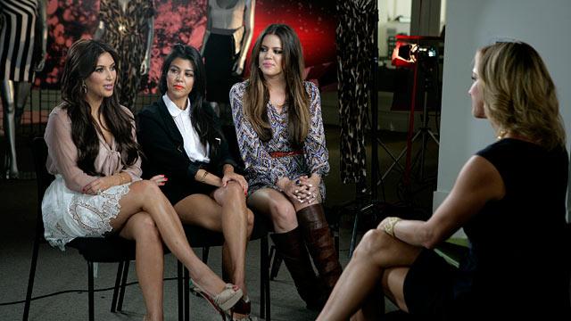 "PHOTO:Kim, Khloe and Kourtney Kardashian are being interviewed by ""Good Morning Americas"" Lara Spencer."
