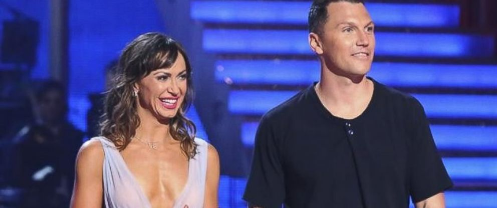 PHOTO: Karina Smirnoff and Sean Avery on the season premiere of Dancing With the Stats on March 17, 2014.