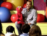 """PHOTO:Kevin Clash, the master puppeteer behind the lovable and popular """"Sesame Street"""" character Elmo, visit the children of West End Day School in New York City."""