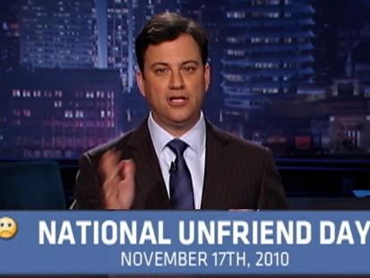 Video: Kimmels National Unfriend Day.