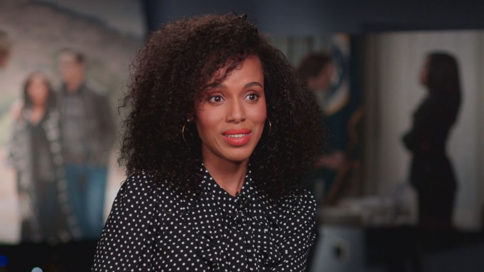 Scandal star Kerry Washington is seen here during an interview with Nightline.