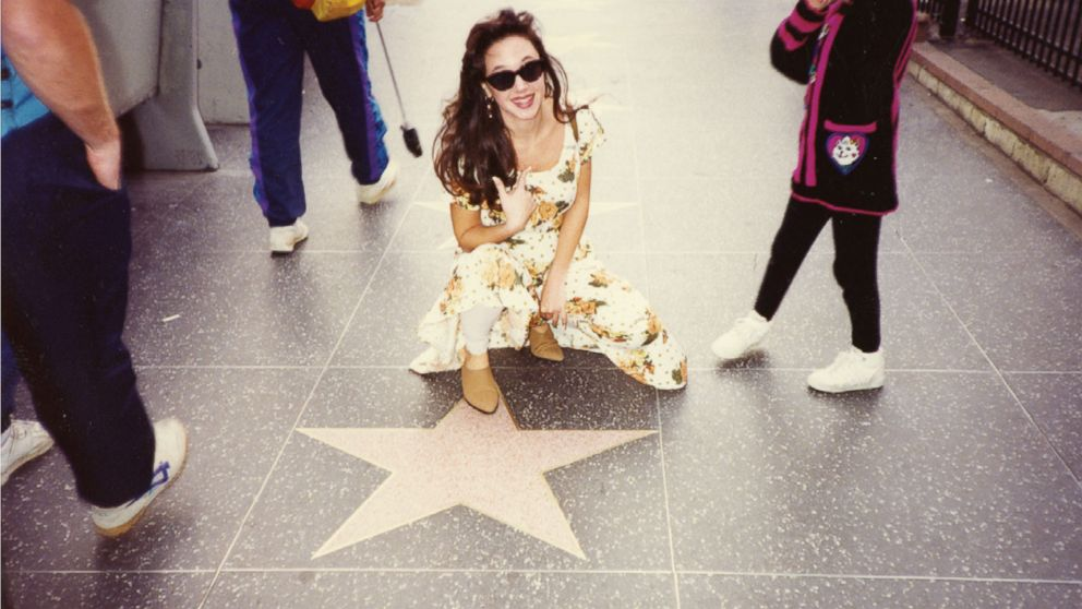 Leah Remini is seen here on the Hollywood Walk of Fame in this undated family photo.