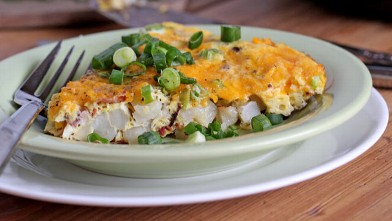 PHOTO: Erin Chase's loaded potato frittata is shown here.